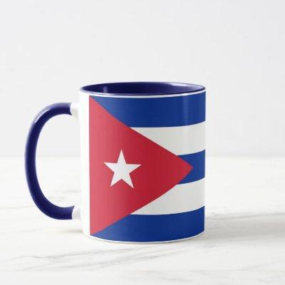Black Combo Mug with flag of Cuba