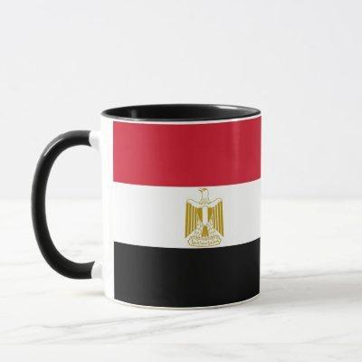 Black Combo Mug with flag of Egypt