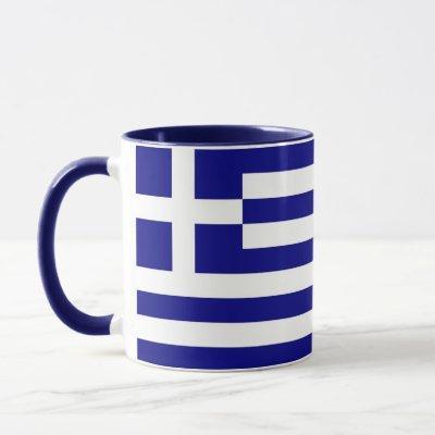 Black Combo Mug with flag of Greece