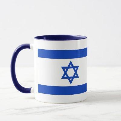Black Combo Mug with flag of Israel