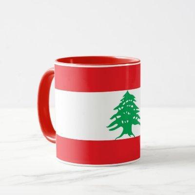 Black Combo Mug with flag of Lebanon