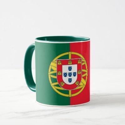 Black Combo Mug with flag of Portugal