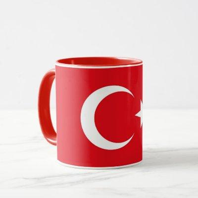 Black Combo Mug with flag of Turkey