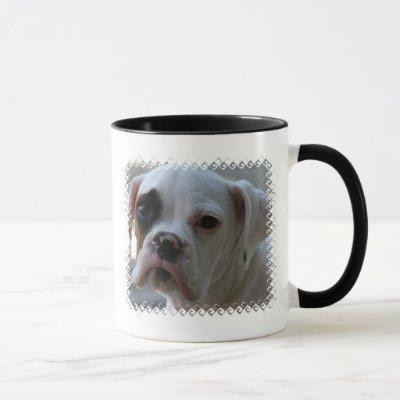 Black Eyed Boxer Dog Coffee Mug