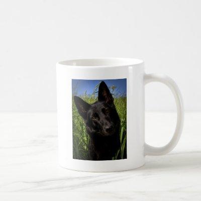black german shepherd coffee mug