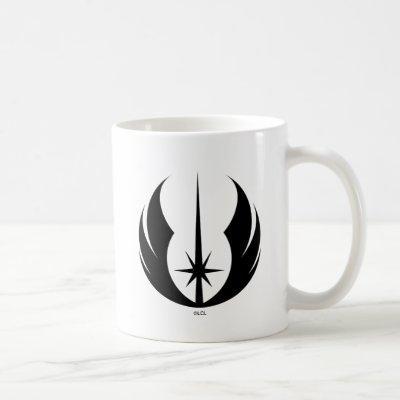 Black Jedi Symbol Coffee Mug