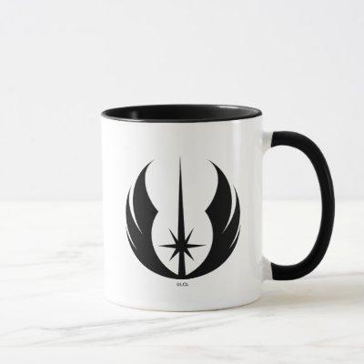 Black Jedi Symbol Mug