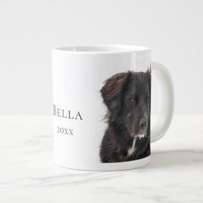Black Lab Pet Dog Photo Name Year Giant Coffee Mug