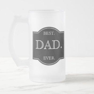 Black Label Frosted Glass Beer Mug