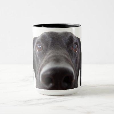 Black Labrador Closeup Portrait Mug