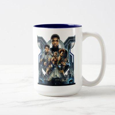 Black Panther | Characters Over Wakanda Two-Tone Coffee Mug