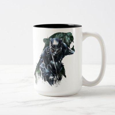 Black Panther   In The Jungle Two-Tone Coffee Mug