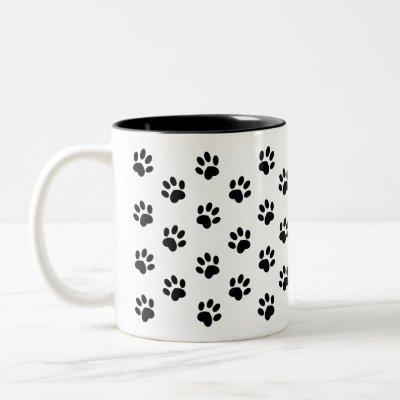 Black Paw Print coffee Mug