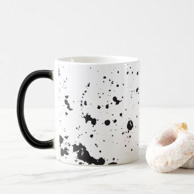 Black Splatter Paint Mug