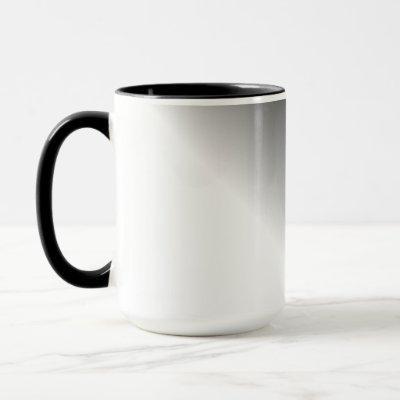 Black White Ombre Mug