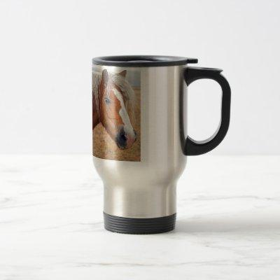 Blond Horse Travel Mug