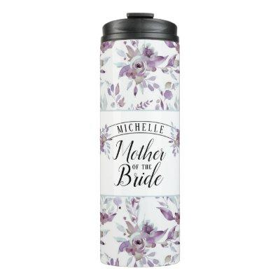 Blooming Amethyst Floral Mother of the Bride Thermal Tumbler