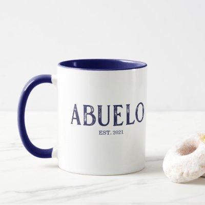 Blue Abuelo Year Established Mug