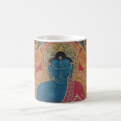 Blue Buddha beautiful mug