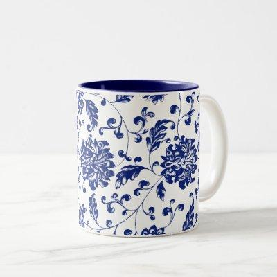 Blue Floral Mug
