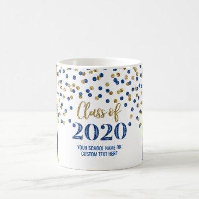 Blue Gold Class of 2020 Photo Graduation Mug