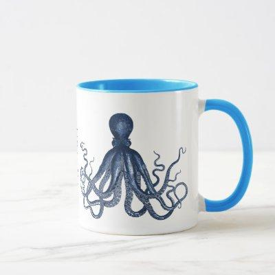 Blue Octopus Custom Mug
