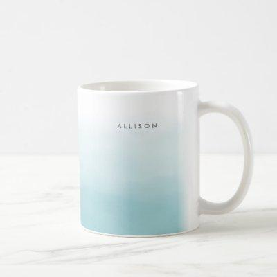 Blue Ombre Watercolor Coffee Mug