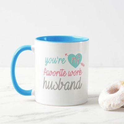 Blue pink love Work Husband - coffee tea Mug