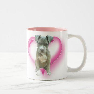 Blue pitbull puppy mug