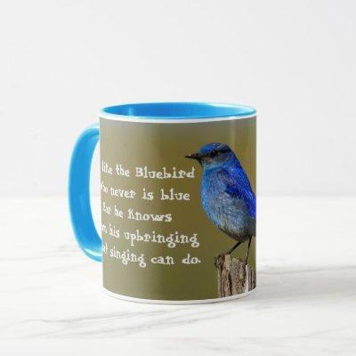 Bluebird Quote Mug