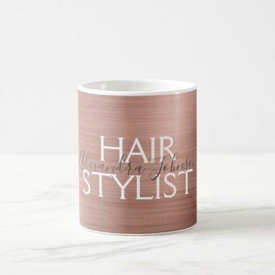 Blush Pink - Rose Gold Foil Hair Stylist Coffee Coffee Mug