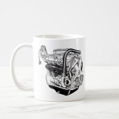 bmw m10 turbo e10 2002 e21 engine m10b20 coffee mug