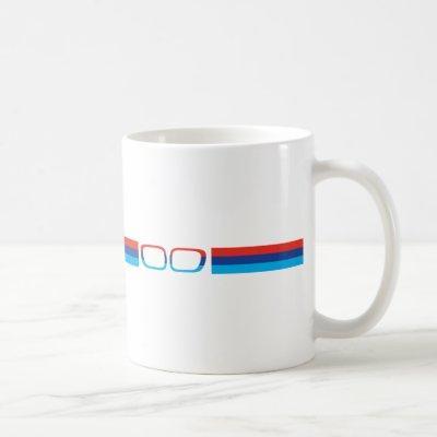 BMW M horizontal stripes and kidneys Coffee Mug