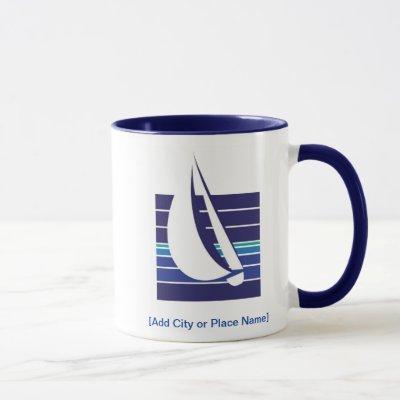 Boat Blues Square_Namedrop mug