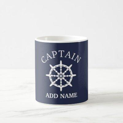 Boat Captain (Personalize Captain's Name) Coffee Mug