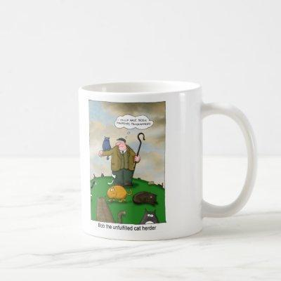 Bob the Cat Herder - Software Developer Manager Coffee Mug
