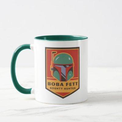Boba Fett Bounty Hunter Badge Mug