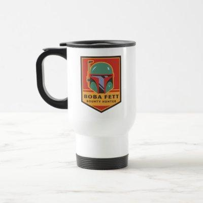 Boba Fett Bounty Hunter Badge Travel Mug