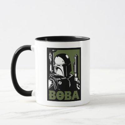 Boba Fett Green Poster Graphic Mug