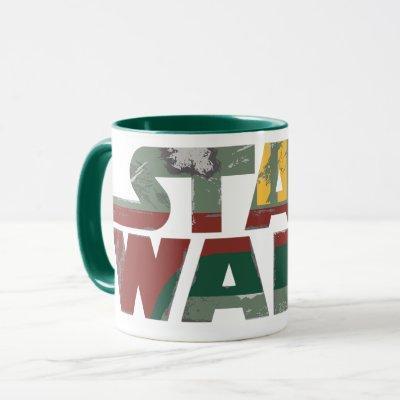 Boba Fett Style Star Wars Logo Mug