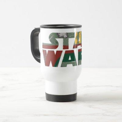 Boba Fett Style Star Wars Logo Travel Mug