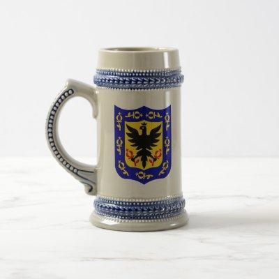 Bogota - coat of arms. beer stein