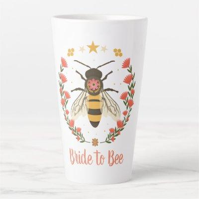 Boho Bride to Be Floral Large Latte Mug