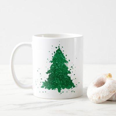 Bold Christmas Trees   Gorgeous Kelly Green Coffee Mug