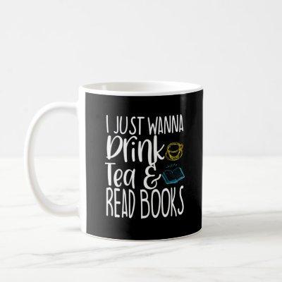 Book Lover Tea Drinker Nerd Reader Literary Gift Coffee Mug