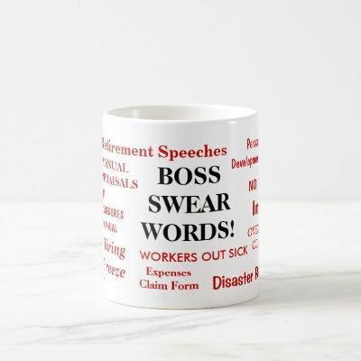 Boss Gift - Funniest Boss Joke Mug - Swear Words