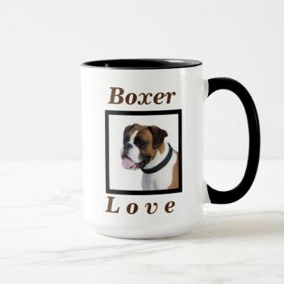 """""""Boxer Love"""" Cute Dog Gift for Her or Him Coffee Mug"""