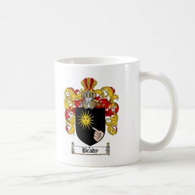 BRADY FAMILY CREST -  BRADY COAT OF ARMS COFFEE MUG