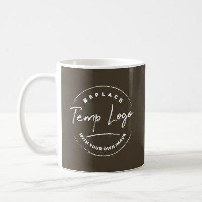Branded with Your Corporate Logo, Dark Brown Coffee Mug