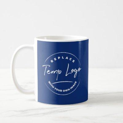 Branded with Your Corporate Logo, Navy Blue Coffee Mug